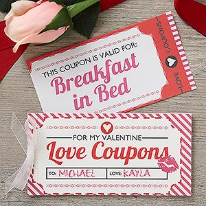love coupons for him template - personalized stationery gifts gift ideas