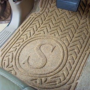 Personalized Monogram Chevron AquaShield Molded Car Mats - 18001D
