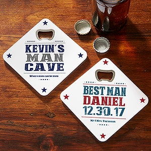 Personalized Beer Bottle Opener Coaster - 18002