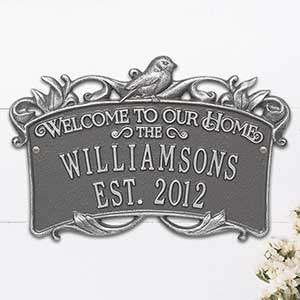Personalized Wedding Home Plaque – Songbird - 18031D