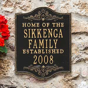Personalized Family Established House Plaque - 18033D