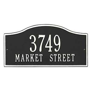 Rolling Hills Personalized Aluminum Address Plaque - 18036D
