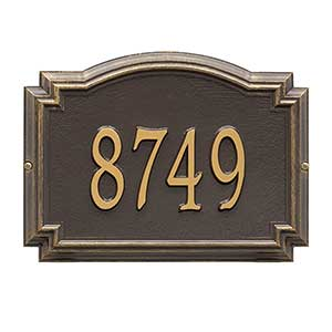 Personalized House Number Plaque - Williamsburg Design  - 18038D