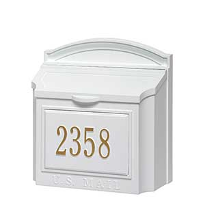 Personalized wall mailbox white for the home buy personalized wall mailboxes made of rust free solid aluminum in your choice of color free personalization see more personalized home dcor at negle Image collections