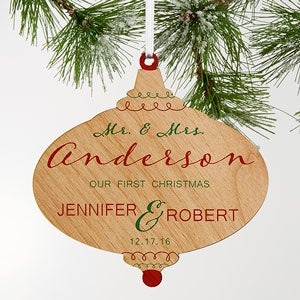 Our First Christmas Personalized Wood Ornaments - 18055