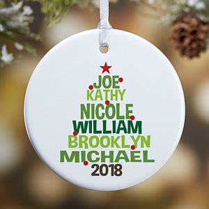buy personalized family tree christmas ornaments add your family names and a photo free personalization see more personalized christmas ornaments at - Christmas Tree Decorations Sale