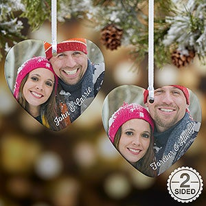 Personalized Photo Heart-Shaped Ornament - 18070