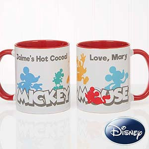 Disney Mickey Mouse Personalized Coffee Mugs - 18100