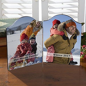 Personalized Photo Plaques - 2 Photos And Text - 18106