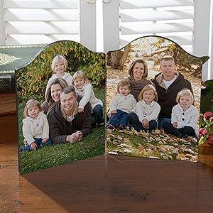 Personalized Double Photo Plaque - 18109