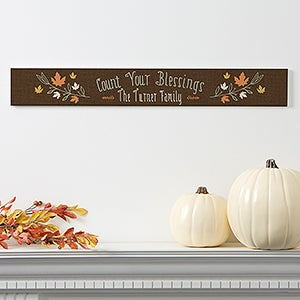 Personalized Count Your Blessings Sign - 18137