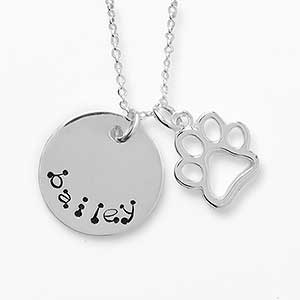 personalized pet name charm necklace