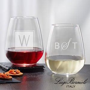 Personalized Wine Glasses - Luigi Bormioli Classic - 18155