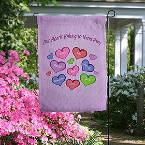 Personalized Garden Flags - My Heart Belongs To - 18203