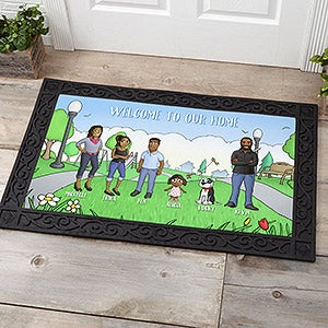 Personalized Doormats - Our Family Characters - 18208