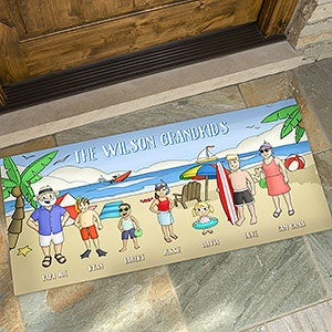 Personalized Doormats - Summer Fun Family Characters - 18209