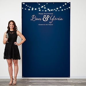 Personalized Photo Backdrop - Twinkle Lights - 18218