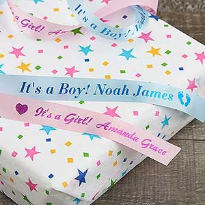 Personalized ribbon for baby shower new baby gift personalized ribbon for baby shower new baby gift 18219d negle Gallery