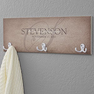 Personalized Coat Rack - Heart of Our Home - 18222