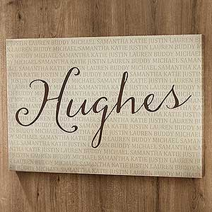 Family Names Personalized Canvas Prints - 18233