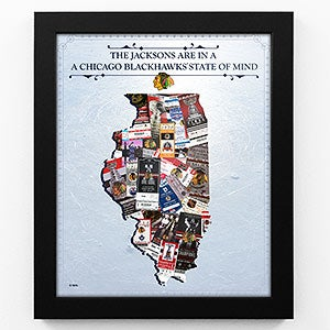 Chicago Blackhawks Personalized Framed Print - 18238D