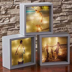 Personalized Photo LED Light Shadow Box - 18241