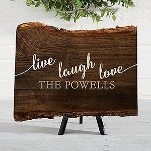Live Laugh Love Signs - Personalized Basswood Planks - 18243