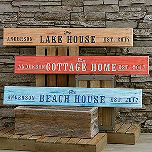 Personalized Wooden Sign - Home Away From Home - 18248
