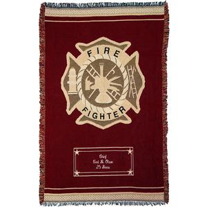 Personalization Mall Personalized Firefighter Tribute Afghan - Heroes Tapestry at Sears.com