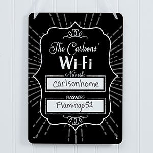 Personalized WiFi Password Sign - 18255