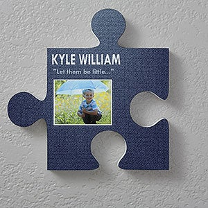 Personalized Puzzle Piece Wall Decor - Textured Designs - 18257
