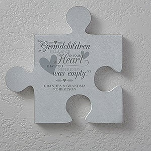 Personalized Puzzle Piece Wall Decor Grandparents