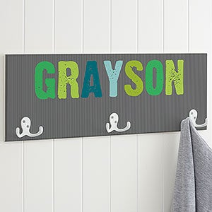 Personalized Coat Rack for Boys - Any Name - 18263