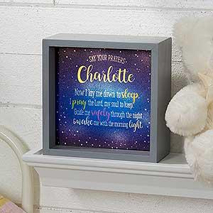 Personalized LED Light Shadow Box - Bedtime Prayer - 18264