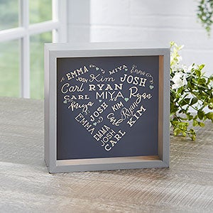 """Close To Her Heart Personalized LED Light Shadow Box- 6""""x 6""""-18265-6x6"""
