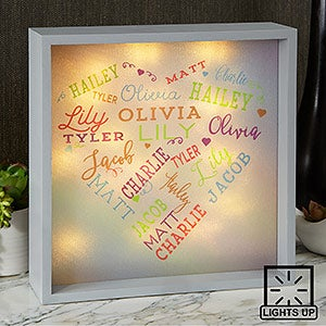 Close To Her Heart 10x10 Custom Led Light Shadow Box For Her
