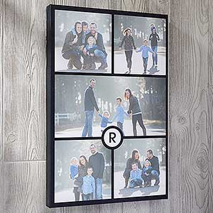 personalized 12x18 photo collage monogram canvas prints photo gifts