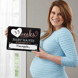 Pregnancy Countdown Personalized Dry Erase Sign - 18278