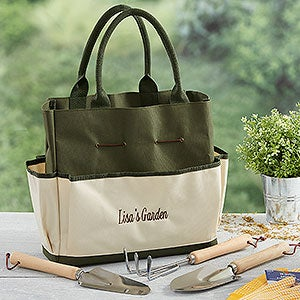 Personalized Garden Tote & Tools - My Garden - 18303