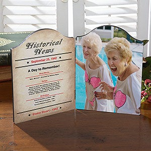 Personalized Photo Plaque - The Day You Were Born  - 18308