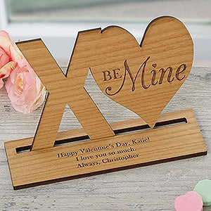 Xo Personalized Natural Wood Keepsake Valentine S Day Gifts