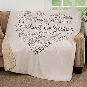 Personalized Blanket Premium Sherpa - Loving Heart - 18316
