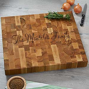 Custom Engraved Butcher Block Cutting Boards - 18335