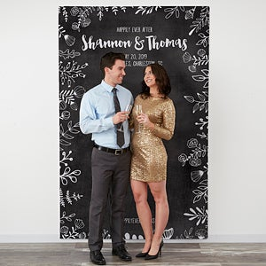 Personalized Wedding Photo Backdrops With A Unique Chalkboard Design Perfect As Booth Backdrop Free Personalization Fast Shipping