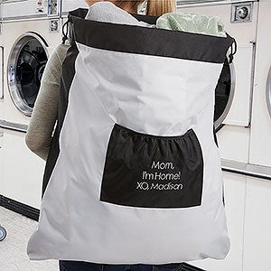 Personalized Laundry Bag - Add Any Text - 18350