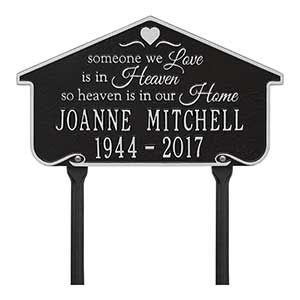 Personalized Memorial Plaques - Heavenly Home - 18352D