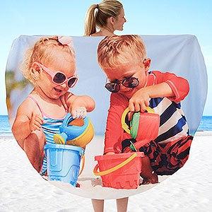 Round Beach Towels - Add Any Photo - 18363