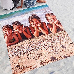 Personalized Photo Beach Blanket - 18364