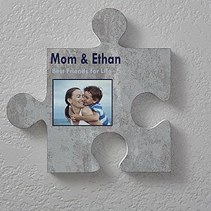 Personalized Puzzle Piece Wall Decor - Brick & Stone - 18366