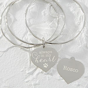 Personalized Pet Charm Bangle Bracelet - 18376